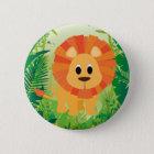 Cute Lion 6 Cm Round Badge