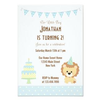 Cute Lion Birthday Party Invitation