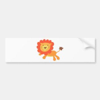 cute lion bumper sticker