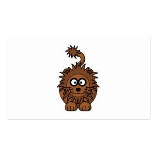 Cute Lion Cartoon Pack Of Standard Business Cards