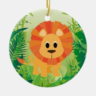Cute Lion Christmas Ornament