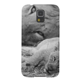 Cute Lion Cub Resting With Father Cases For Galaxy S5