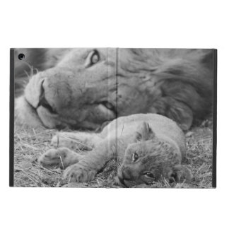Cute Lion Cub Resting With Father iPad Air Case