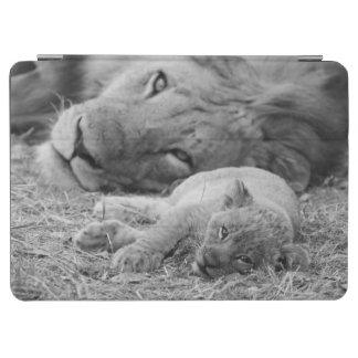 Cute Lion Cub Resting With Father iPad Air Cover