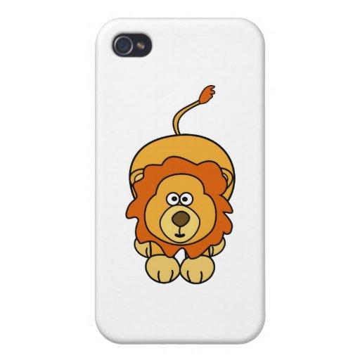 Cute Lion Design iPhone 4/4S Cover