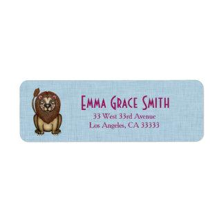 Cute Lion Graphic Return Address Labels