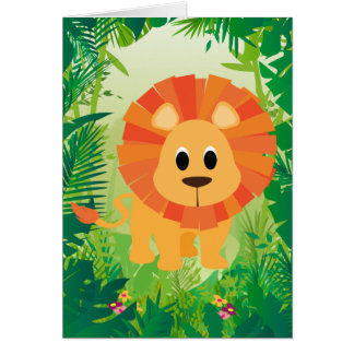 Cute Lion Greeting Card