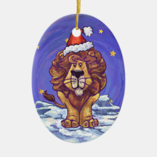 Cute Lion Holiday Christmas Ornament