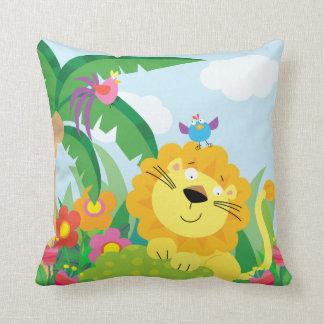 Cute Lion in the Jungle Cushion