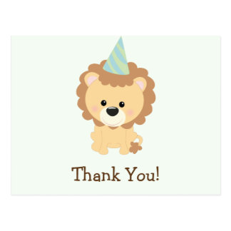 Cute Lion Jungle Animal Thank You Postcard