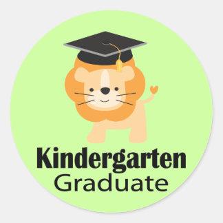 Cute Lion Kindergarten Graduation Gift Classic Round Sticker