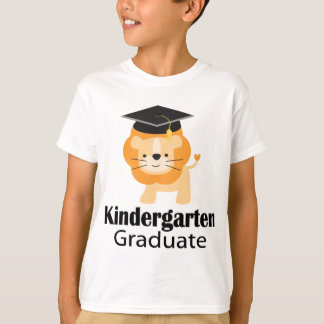 Cute Lion Kindergarten Graduation Gift T-Shirt