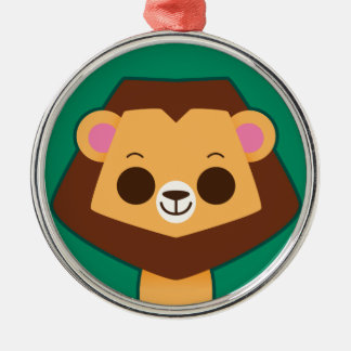 Cute Lion on Green Ornament