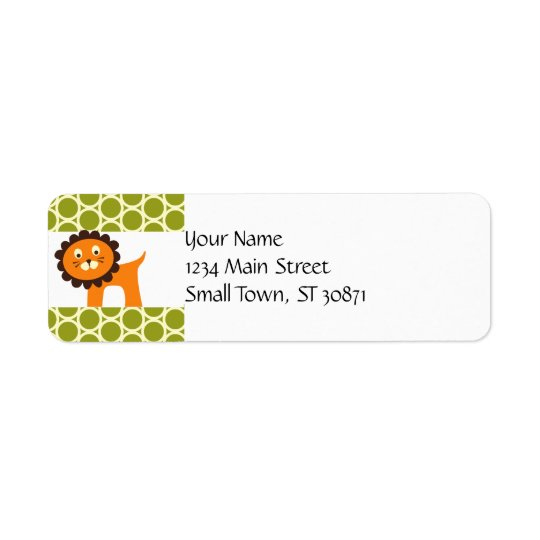 Cute Lion on Green Pattern Gifts for Kids