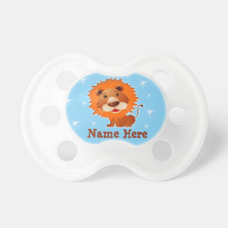 Cute Lion Pacifier Personalized Binkies with Name