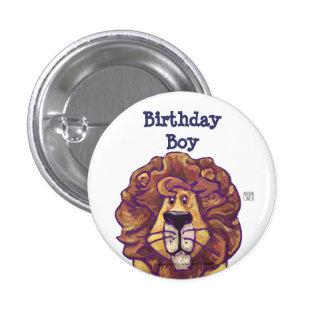 Cute Lion Party Center Birthday Boy 3 Cm Round Badge