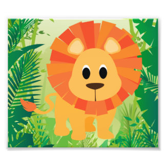 Cute Lion Photo Print
