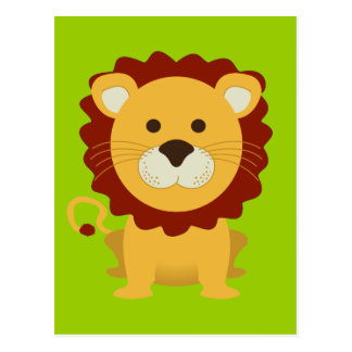 Cute Lion Postcard