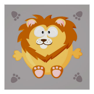 Cute lion poster