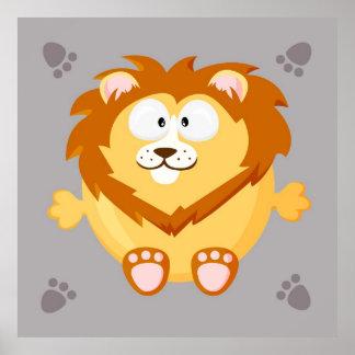 Cute lion print