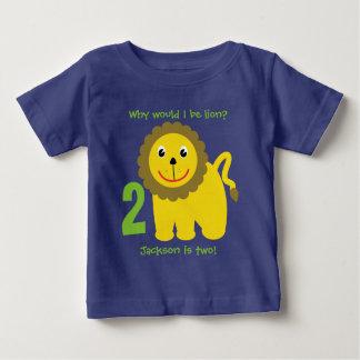 Cute lion second birthday baby T-Shirt