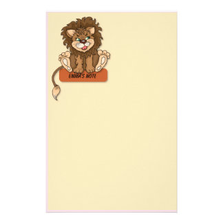 Cute Lion Stationery