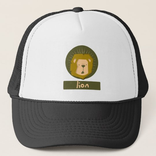 f31a0767 cute lion trucker hat