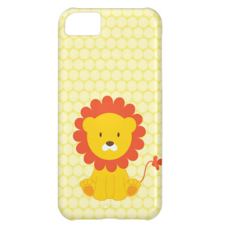Cute Lion Yellow Polka Dots iPhone 5 Case