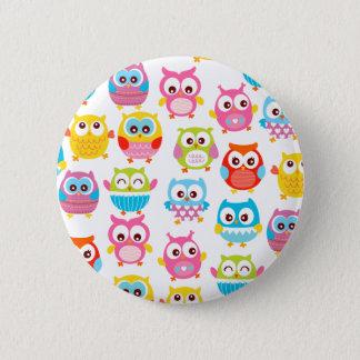 Cute Litte Owls 6 Cm Round Badge