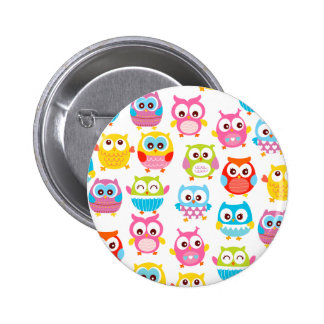 Cute Litte Owls 6 Cm Round Badge