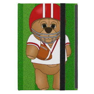 Cute Little American Football Player Teddy Bear Cover For iPad Mini