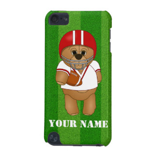 Cute Little American Football Player Teddy Bear iPod Touch (5th Generation) Covers