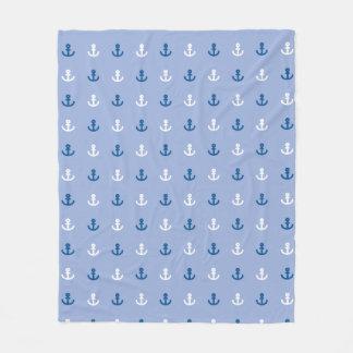 Cute Little Anchor Pattern Fleece Blanket