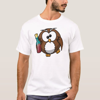 Cute little animated drunk owl T-Shirt