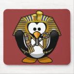 Cute little animated pharaoh penguin mousemat