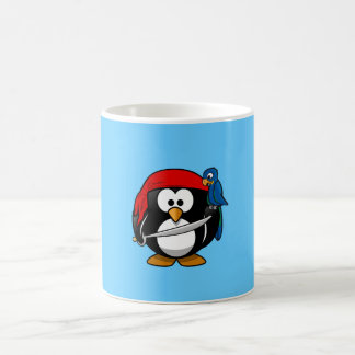 Cute little animated pirate penguin coffee mug