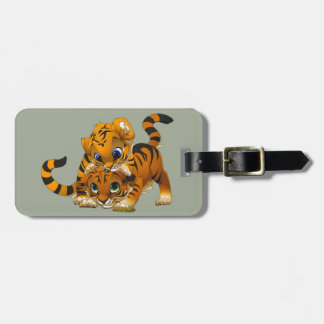 Cute little animated Tigers Luggage Tag