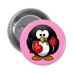 Cute little animated Valentine penguin 6 Cm Round Badge