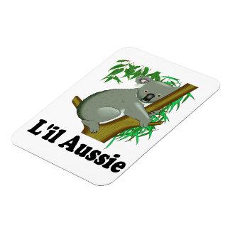 Cute Little Aussie Koala Bear (captioned) Rectangular Photo Magnet