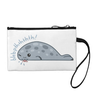 Cute little babbly seal! coin purse