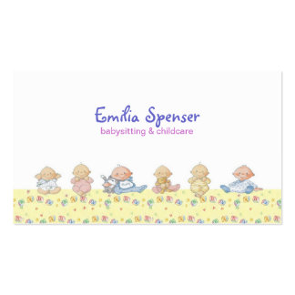 Cute Little Babies Babysitting & Child Care Card Pack Of Standard Business Cards