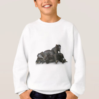 cute little baby elephants playing sweatshirt