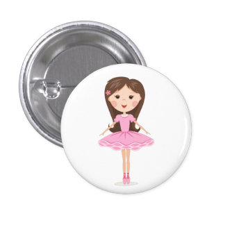 Cute little ballerina cartoon girl pin