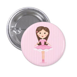 Cute little ballerina cartoon girl pins