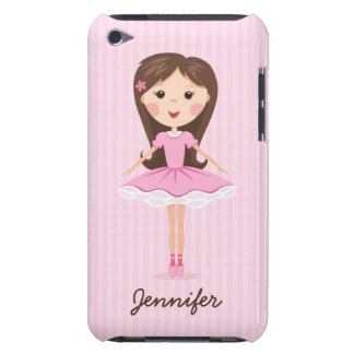 Cute little ballerina cartoon girl personalized iPod touch Case-Mate case