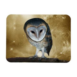 Cute little Barn Owl fantasy Rectangular Photo Magnet