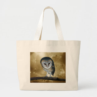 Cute little Barn Owl fantasy Large Tote Bag