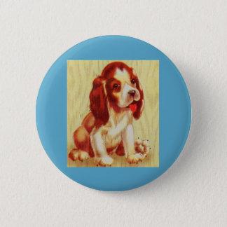 cute little beagle puppy 6 cm round badge