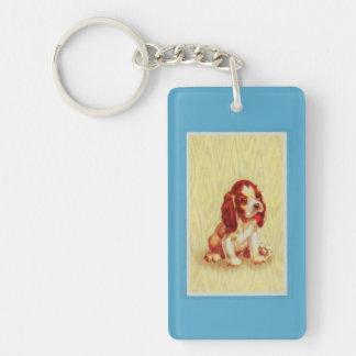 cute little beagle puppy key ring