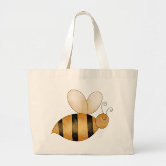 Cute Little Bee Large Tote Bag